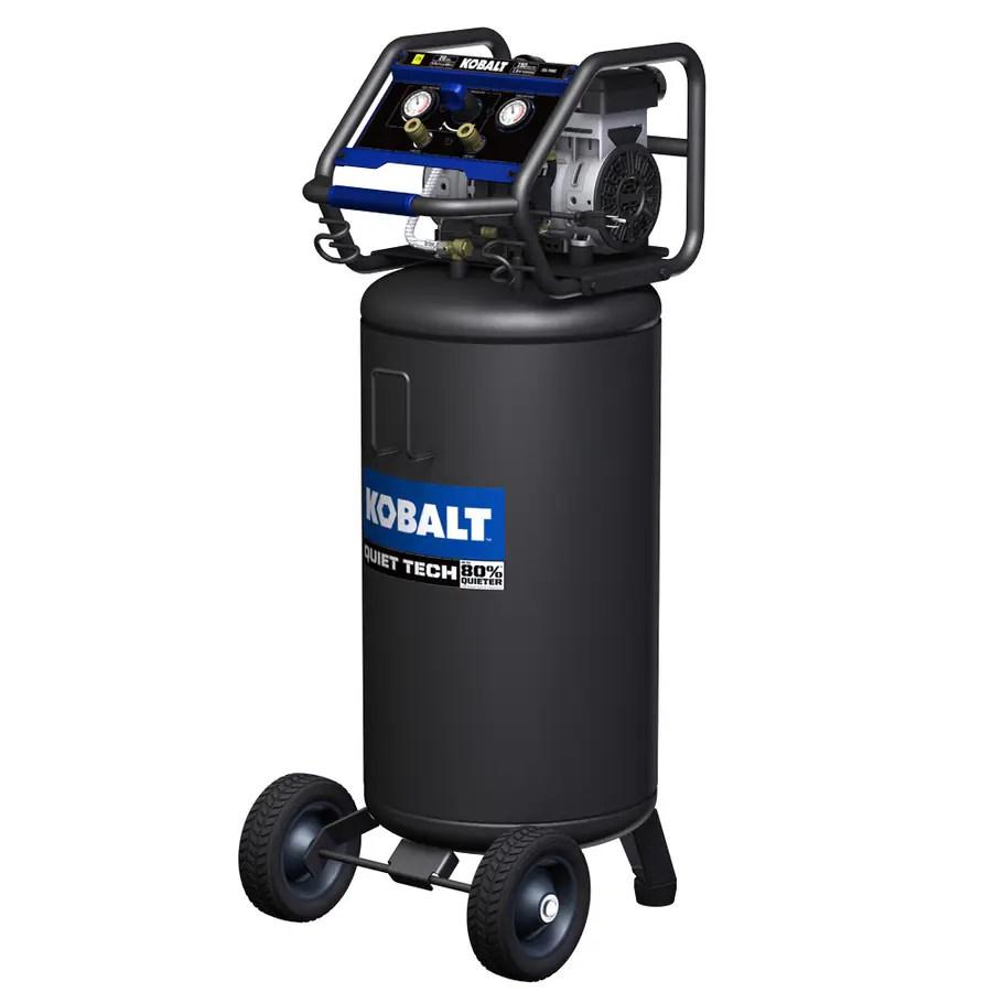 hight resolution of kobalt quiet tech 26 gallon portable electric vertical air compressor