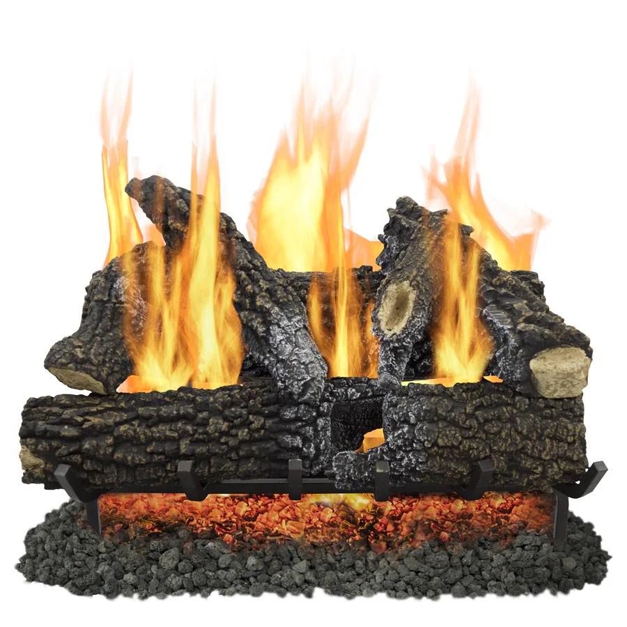 Shop Pleasant Hearth 30in 65000BTU DualBurner Vented Gas Fireplace Logs at Lowescom
