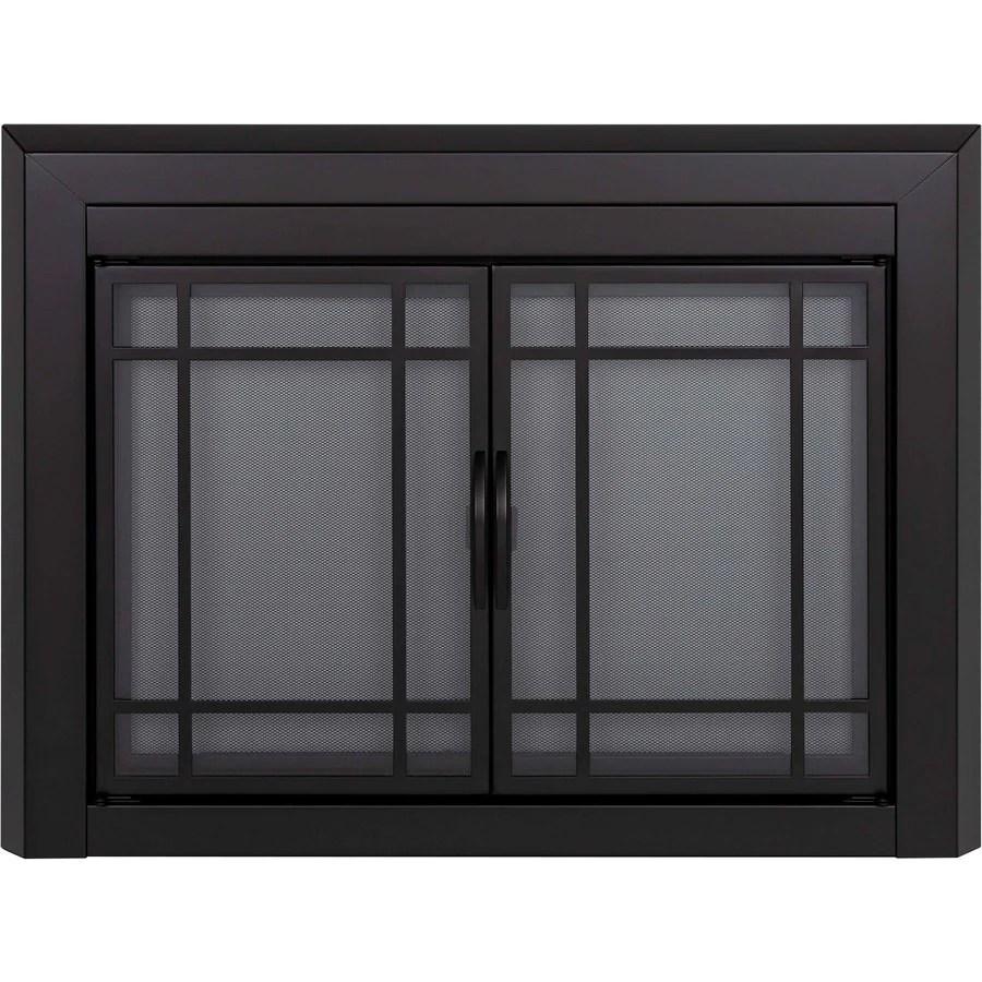 Pleasant Hearth Easton Black Large CabinetStyle Fireplace