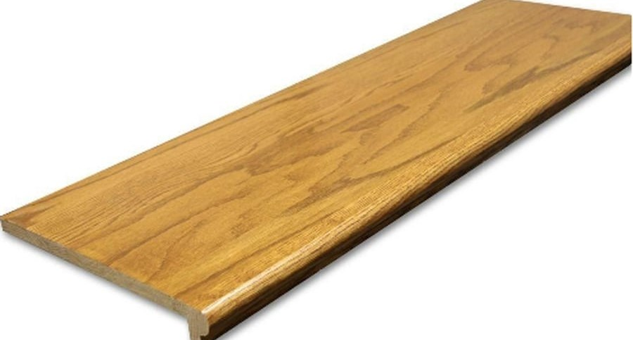 Shop Stairtek Retrotread 11 5 In X 48 In Marsh Prefinished   Wood Stair Treads And Risers