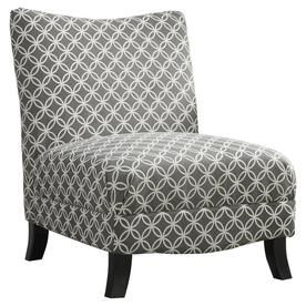 black and white accent chairs with arms mid century rattan chair at lowes com monarch specialties casual gray