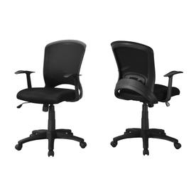 contemporary office chairs chair gym vs resistance desk at lowes com monarch specialties set of 1 black