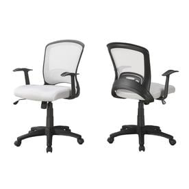 contemporary desk chairs chair cover hire coventry office at lowes com monarch specialties set of 1 white black