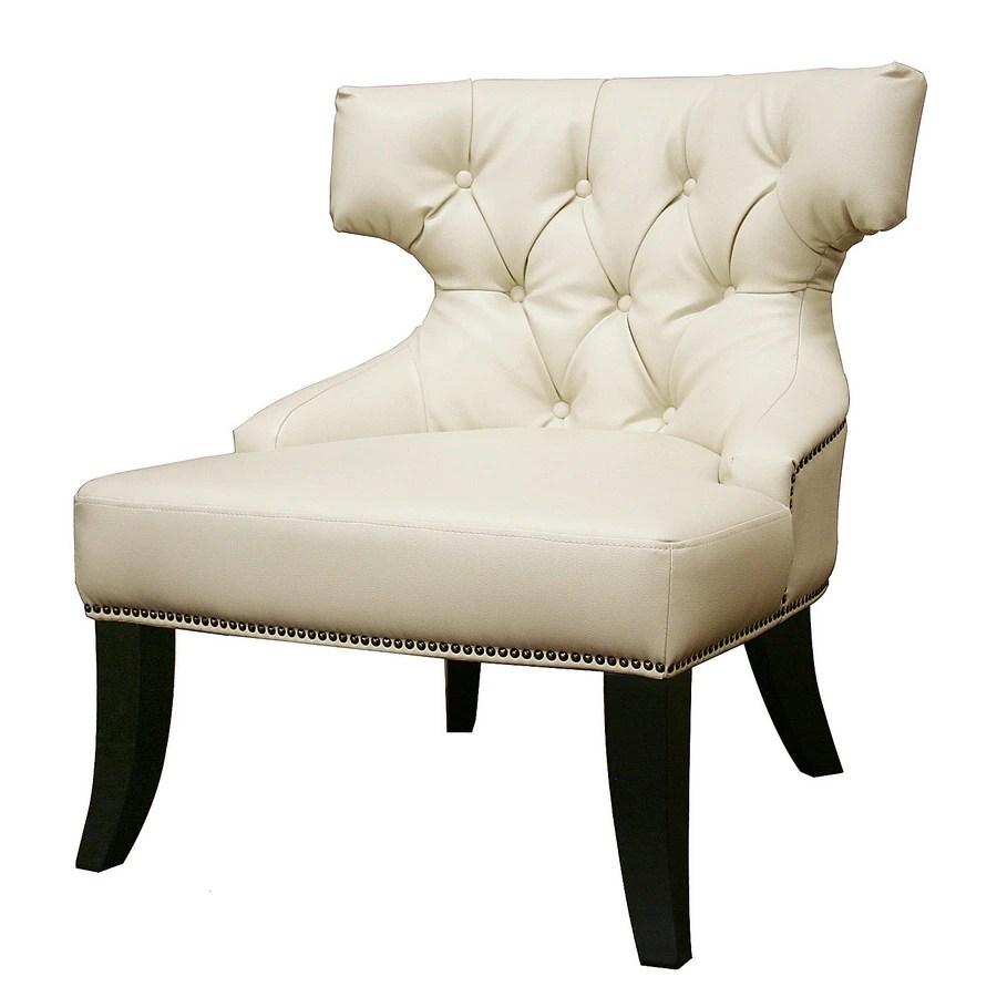 Shop Baxton Studio Baxton Modern White Accent Chair at