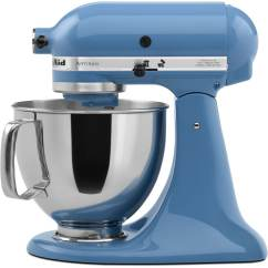 Kitchen Aid 5 Qt Mixer Ceiling Fan For Kitchenaid Artisan Series Quart 10 Speed Cornflower Blue Countertop Stand