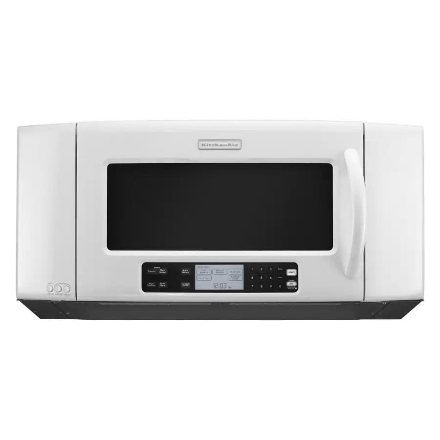 kitchenaid 2 cu ft over the range microwave white in the over the range microwaves department at lowes com