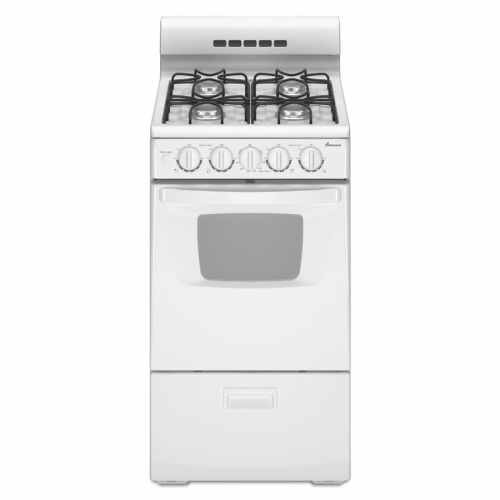 small resolution of amana 2 6 cu ft freestanding gas range white common 20 inch