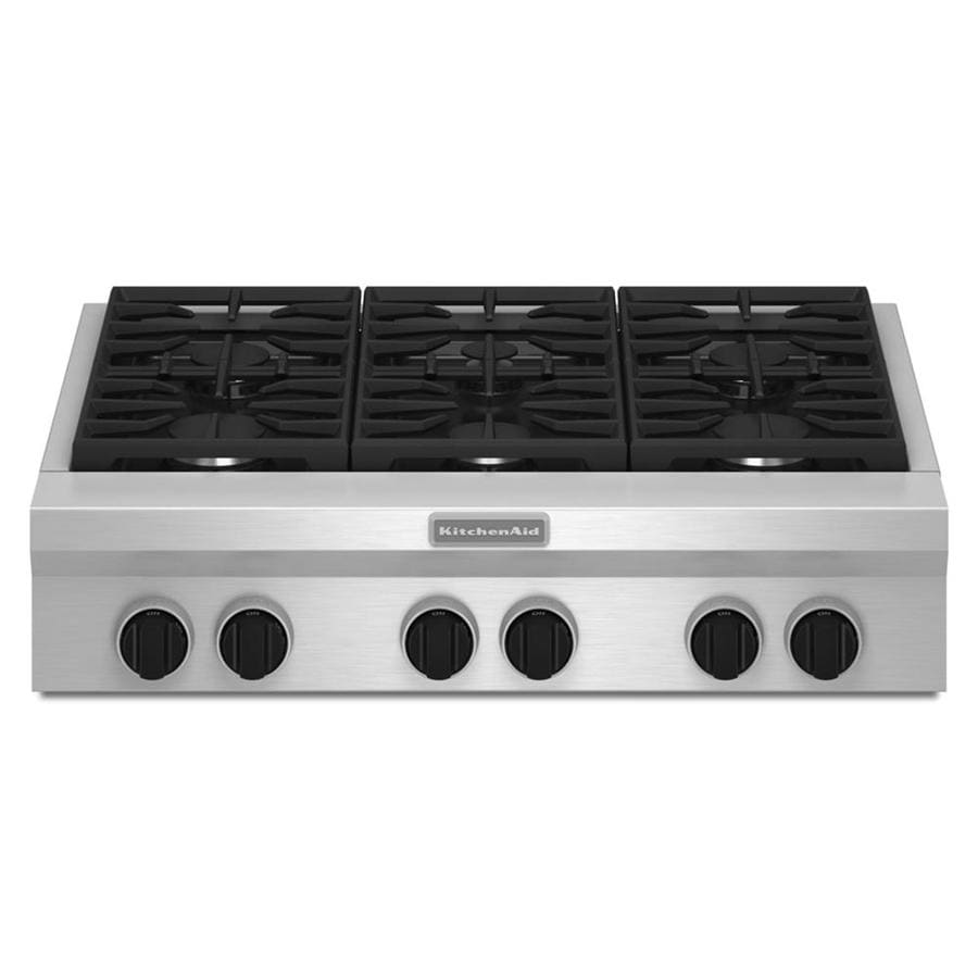 kitchen aid gas cooktop owl rugs kitchenaid 36 in 6 burner stainless steel common