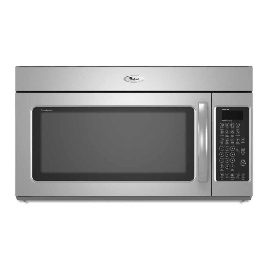 whirlpool 2 0 cu ft over the range microwave color stainless steel