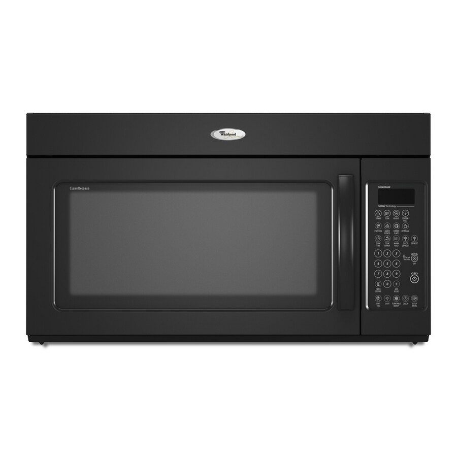 whirlpool gold 2 0 cu ft over the range microwave color black