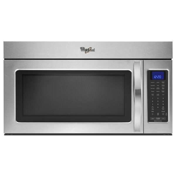 Whirlpool 1.9-cu Ft Over-range Microwave With Sensor Cooking Controls Stainless Steel