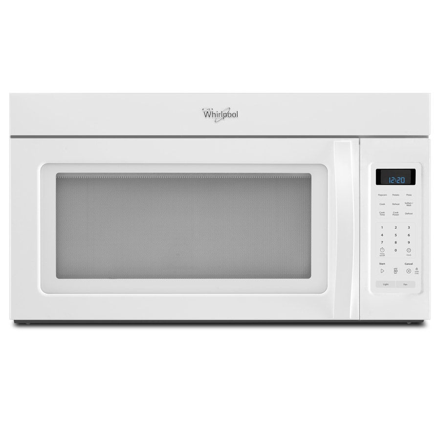 whirlpool 1 7 cu ft over the range microwave white