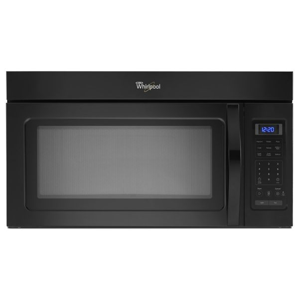 Whirlpool 1.7-cu Ft Over-range Microwave Black Common 30-in; Actual 29.93-in