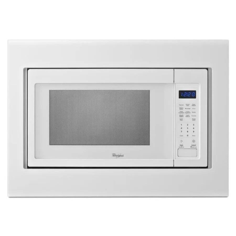 whirlpool countertop microwave trim kit white