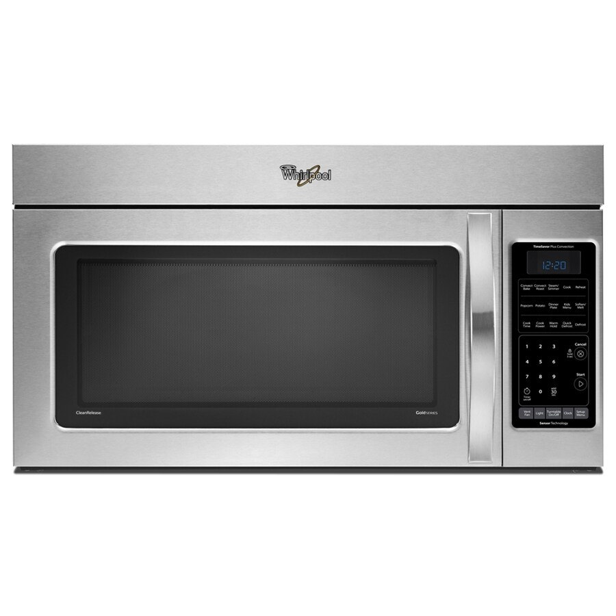 whirlpool gold 1 8 cu ft over the range convection microwave stainless steel