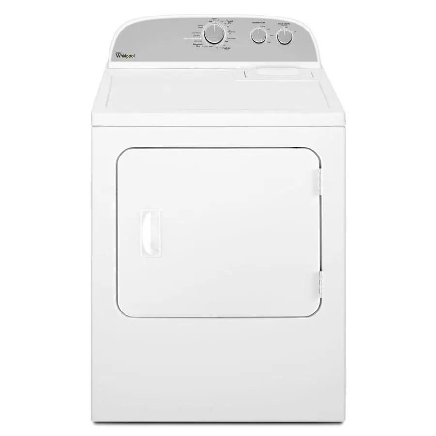 medium resolution of whirlpool 7 cu ft gas dryer white on white