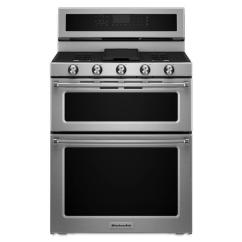 Kitchen Aid Stoves Stools Target Kitchenaid 30 In 5 Burner 3 9 Cu Ft 2 1 Self Cleaning Double Oven Convection Gas Range Stainless Steel
