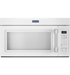 maytag 1 7 cu ft over the range microwave white common 30 in actual 29 875 in  [ 900 x 900 Pixel ]