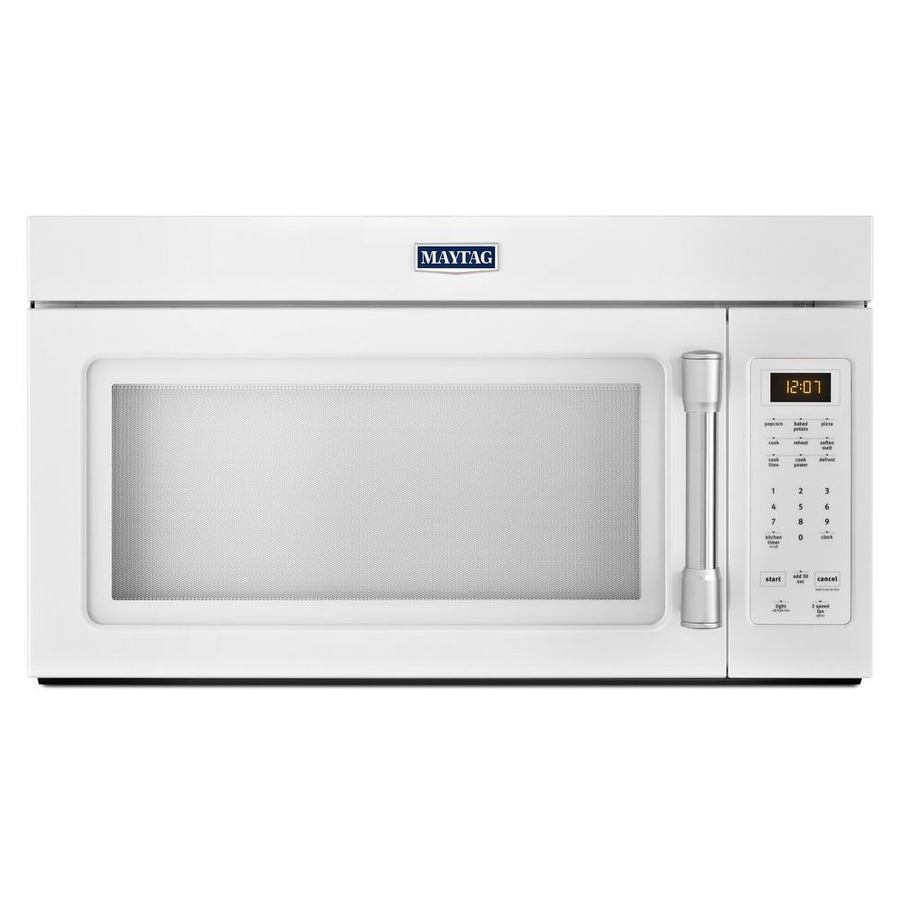 medium resolution of maytag 1 7 cu ft over the range microwave white common 30 in actual 29 875 in