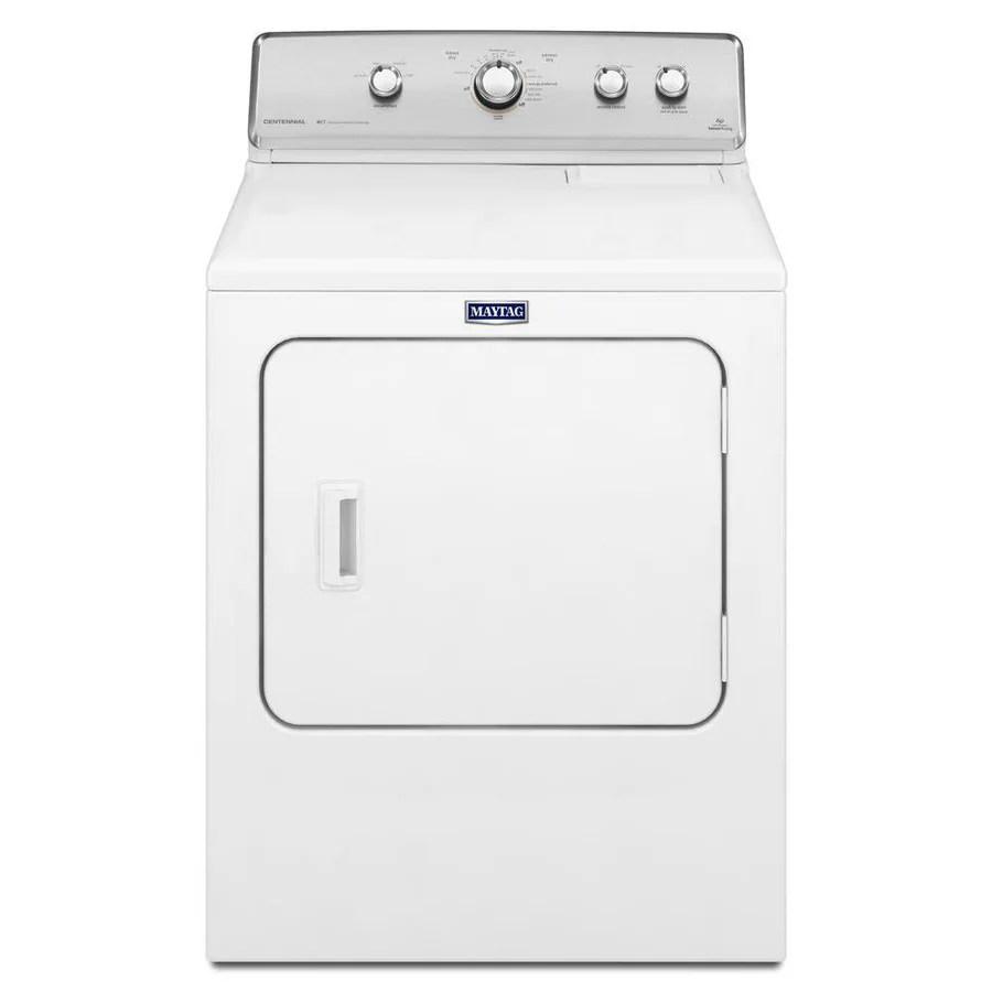 medium resolution of maytag centennial 7 cu ft electric dryer white