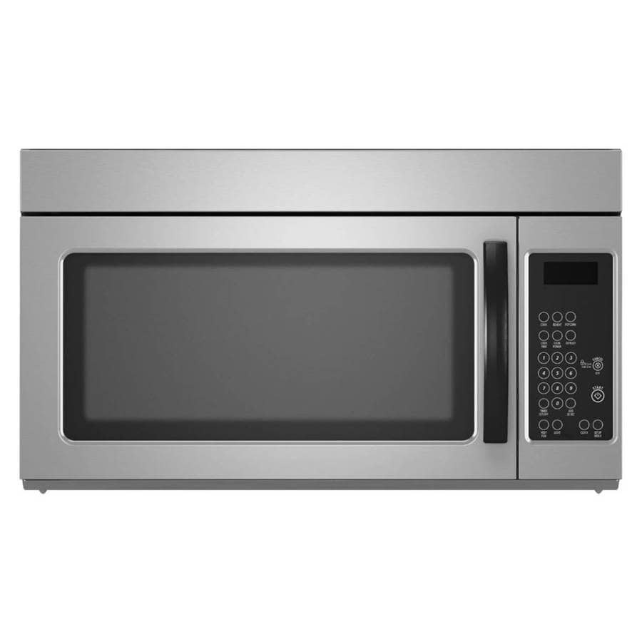 medium resolution of 1 6 cu ft over the range microwave monochromatic stainless steel common 30 in actual 29 9 in at lowes com