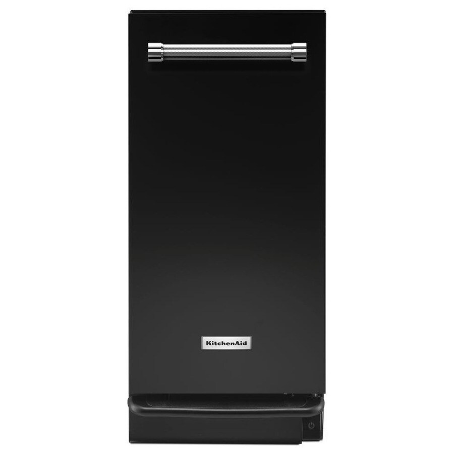 lowes kitchen aid industrial lighting shop kitchenaid 15-in black undercounter trash compactor ...