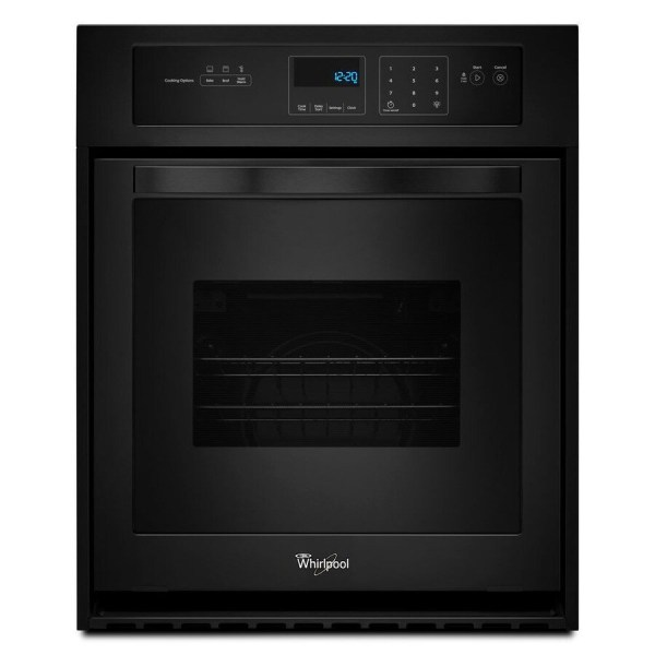 Whirlpool Single Electric Wall Oven Black Common 24-in; Actual 23.75