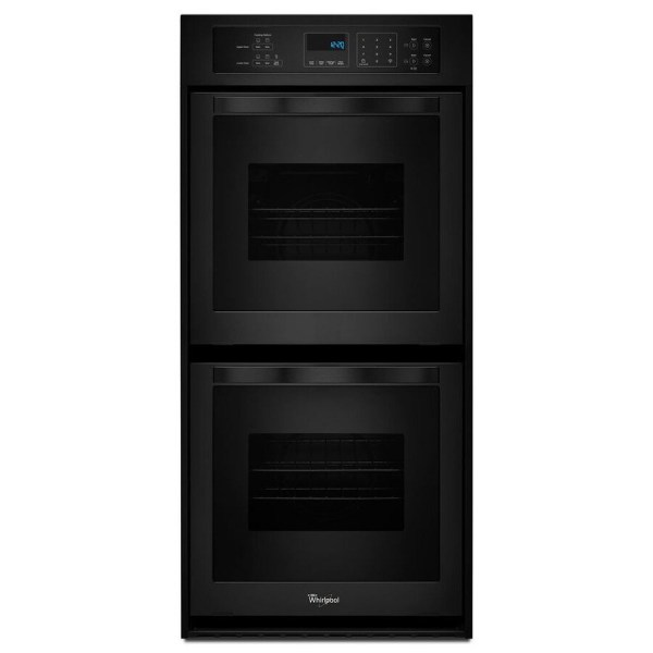 Whirlpool -cleaning Double Electric Wall Oven Black Common 24-in; Actual 23.75-in
