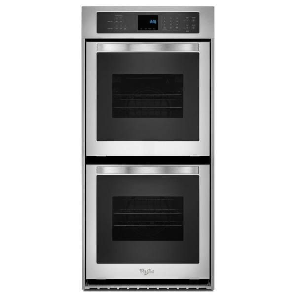 Whirlpool -cleaning Double Electric Wall Oven Stainless Steel Common 24-in; Actual