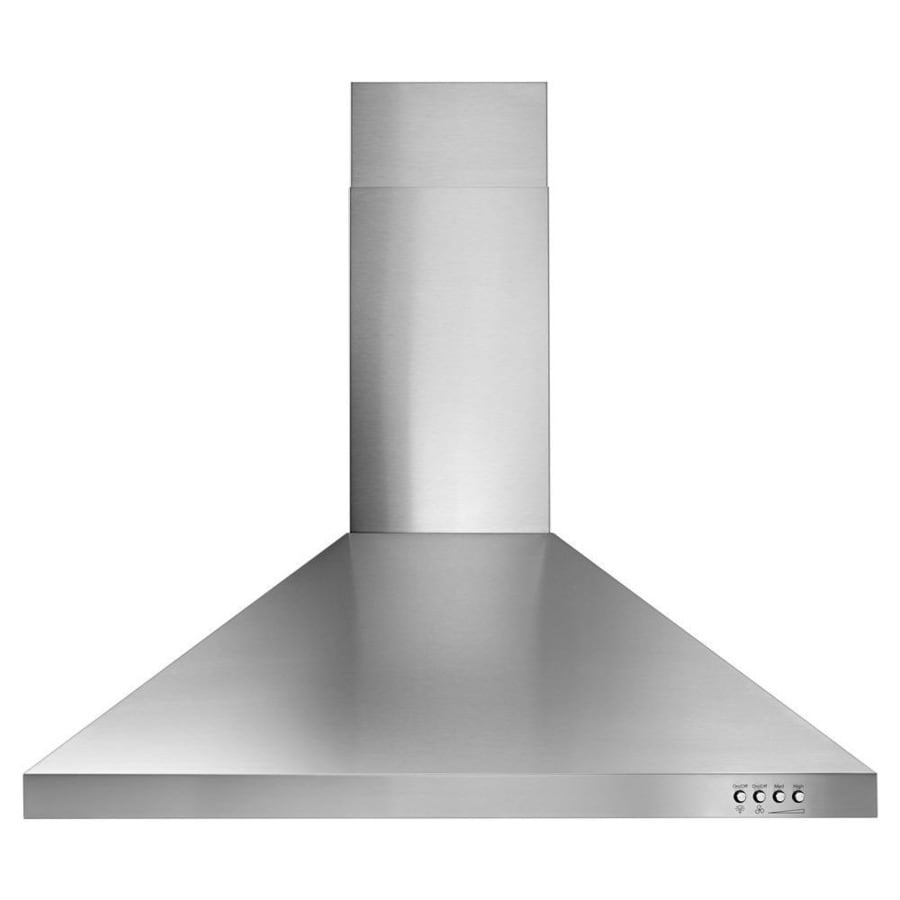 lowes kitchen hood square table sets range hoods at com whirlpool 30 in convertible stainless steel wall mounted common