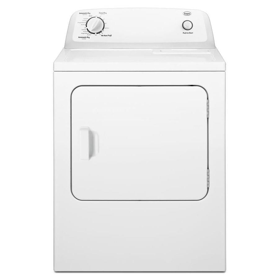 medium resolution of roper 6 5 cu ft electric dryer white