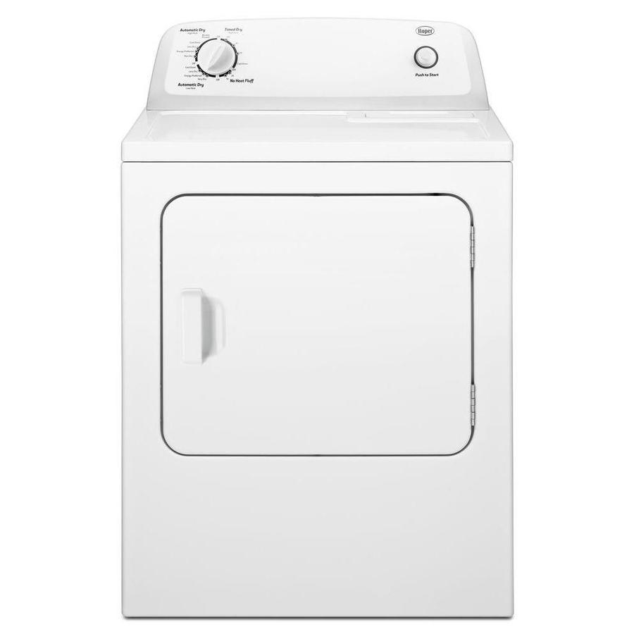 hight resolution of roper 6 5 cu ft electric dryer white