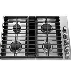 kitchenaid 30 in stainless steel gas cooktop with downdraft exhaust common 30 in actual 30 in  [ 900 x 900 Pixel ]