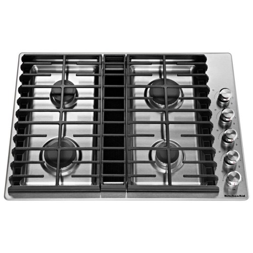 small resolution of kitchenaid 30 in stainless steel gas cooktop with downdraft exhaust common 30 in actual 30 in