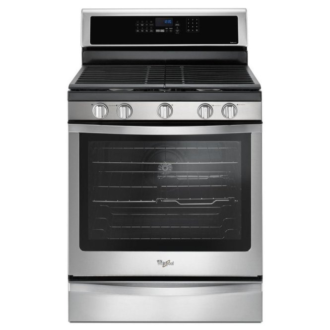 Single Oven Gas Range With 5 Burner Cooktop