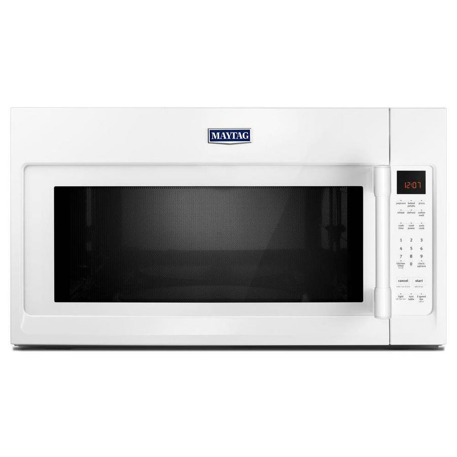 medium resolution of maytag 2 cu ft over the range microwave with sensor cooking white common 30 in actual 29 875 in