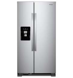 whirlpool 24 5 cu ft side by side refrigerator with ice maker fingerprint resistant stainless steel  [ 900 x 900 Pixel ]