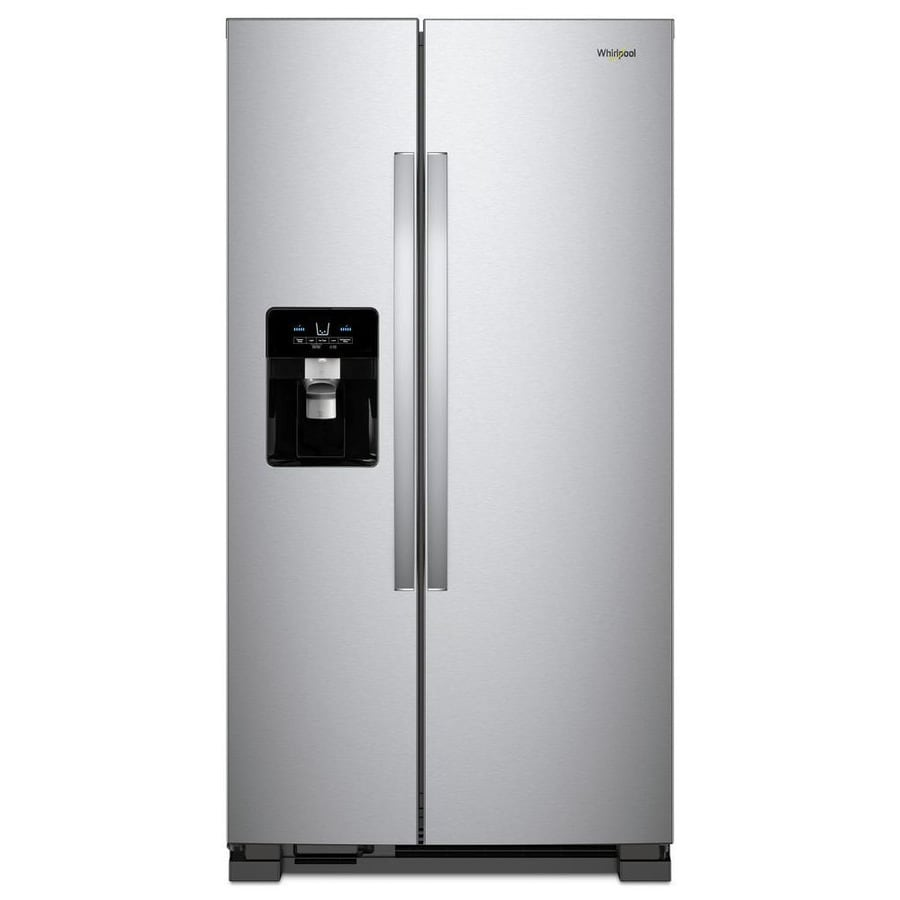 hight resolution of whirlpool 24 5 cu ft side by side refrigerator with ice maker fingerprint resistant stainless steel