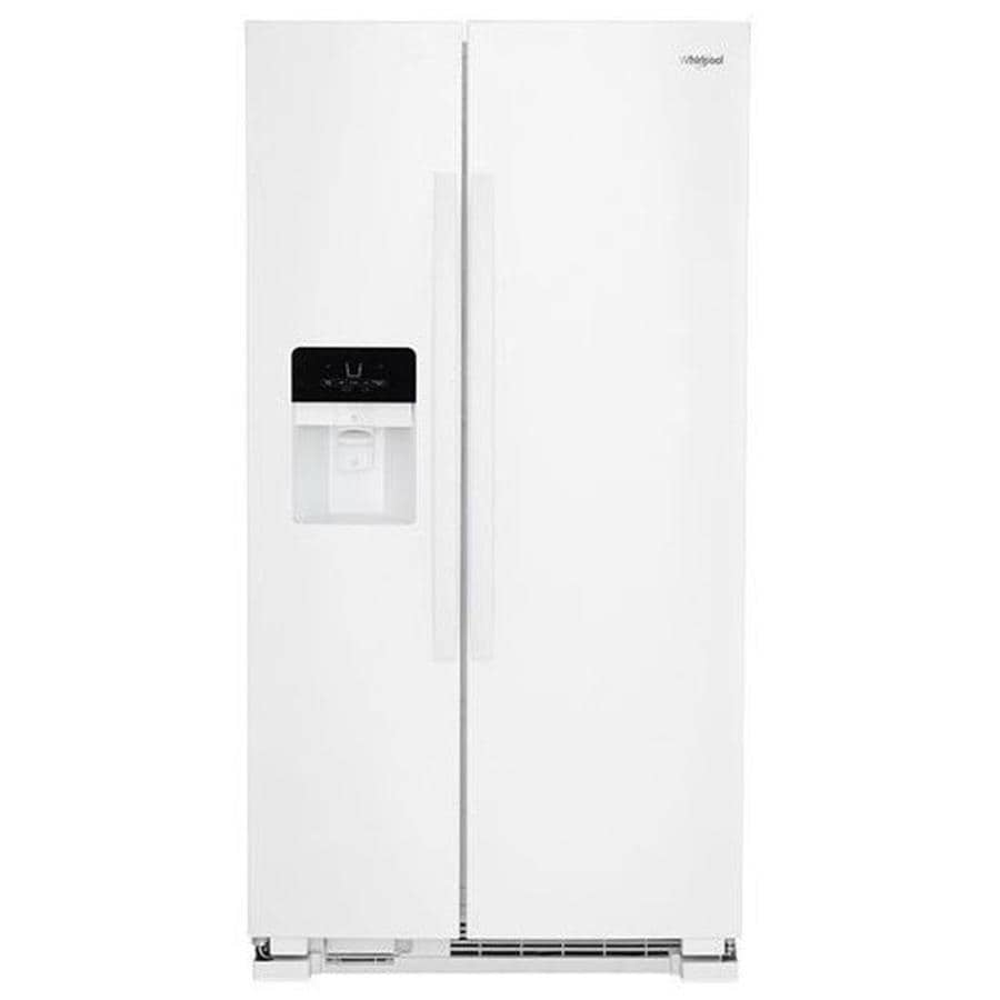 hight resolution of whirlpool 24 5 cu ft side by side refrigerator with ice maker white