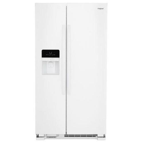 small resolution of whirlpool 24 5 cu ft side by side refrigerator with ice maker white