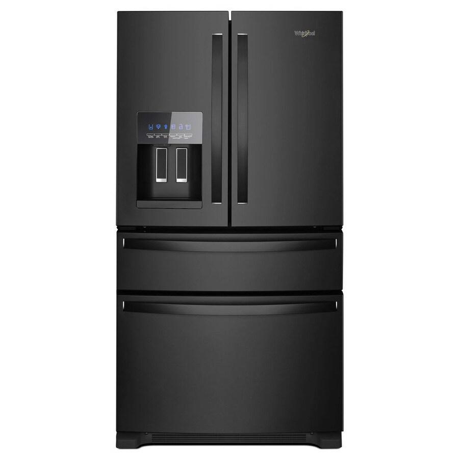 hight resolution of whirlpool 24 5 cu ft 4 door french door refrigerator with ice maker black black energy star
