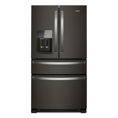 small resolution of whirlpool 24 5 cu ft 4 door french door refrigerator with ice maker fingerprint resistant black stainless black stainless steel energy star