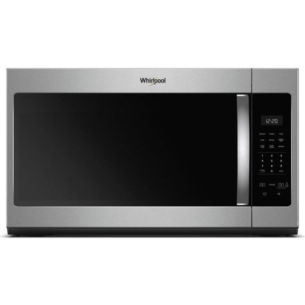Whirlpool 1.7-cu Ft Over-range Microwave Stainless Steel Common 30-in; Actual 29.938-in