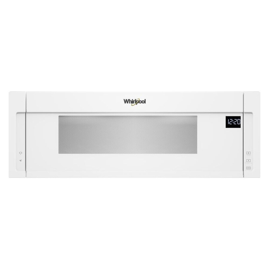 whirlpool 1 1 cu ft low profile over the range microwave white