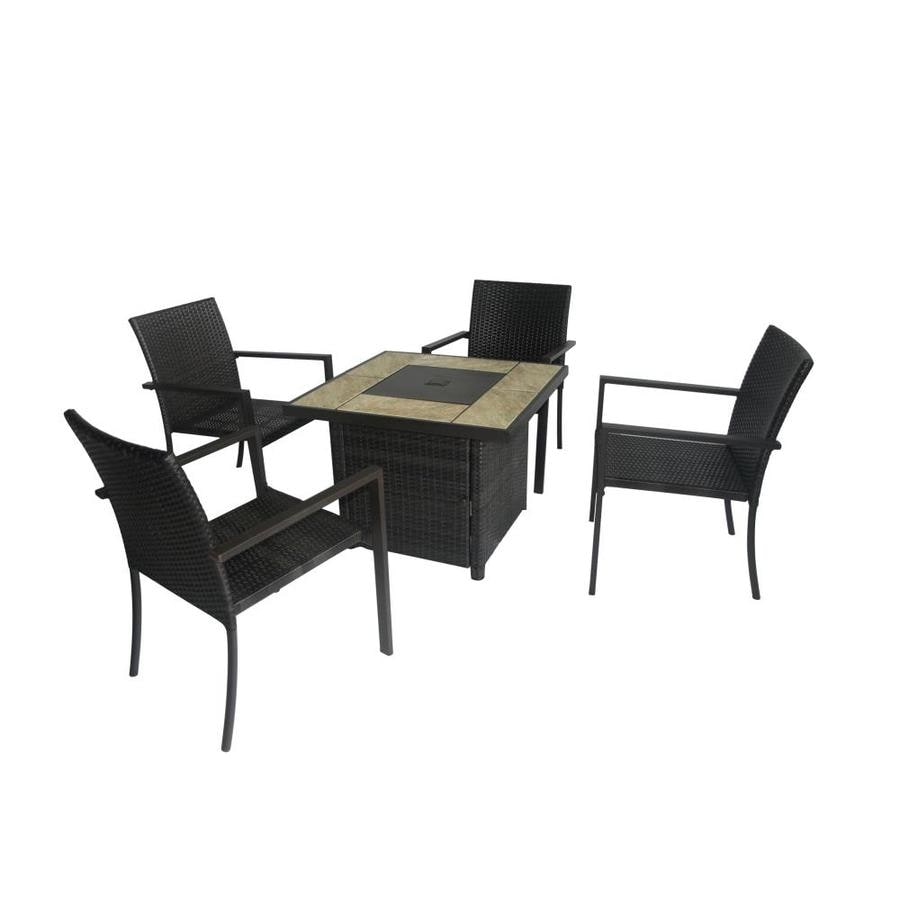 Lowes Outdoor Table And Chairs Bali Steel Frame Patio Conversation Set At Lowes