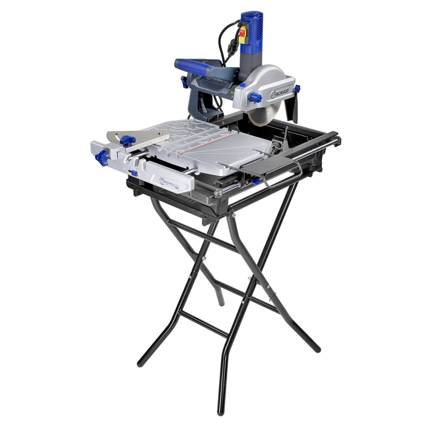 kobalt 7 in 9 amp table top sliding table tile saw with stand