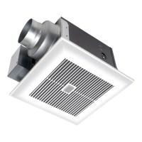 Shop Panasonic 0.3-Sone 80-CFM White Bathroom Fan with LED ...
