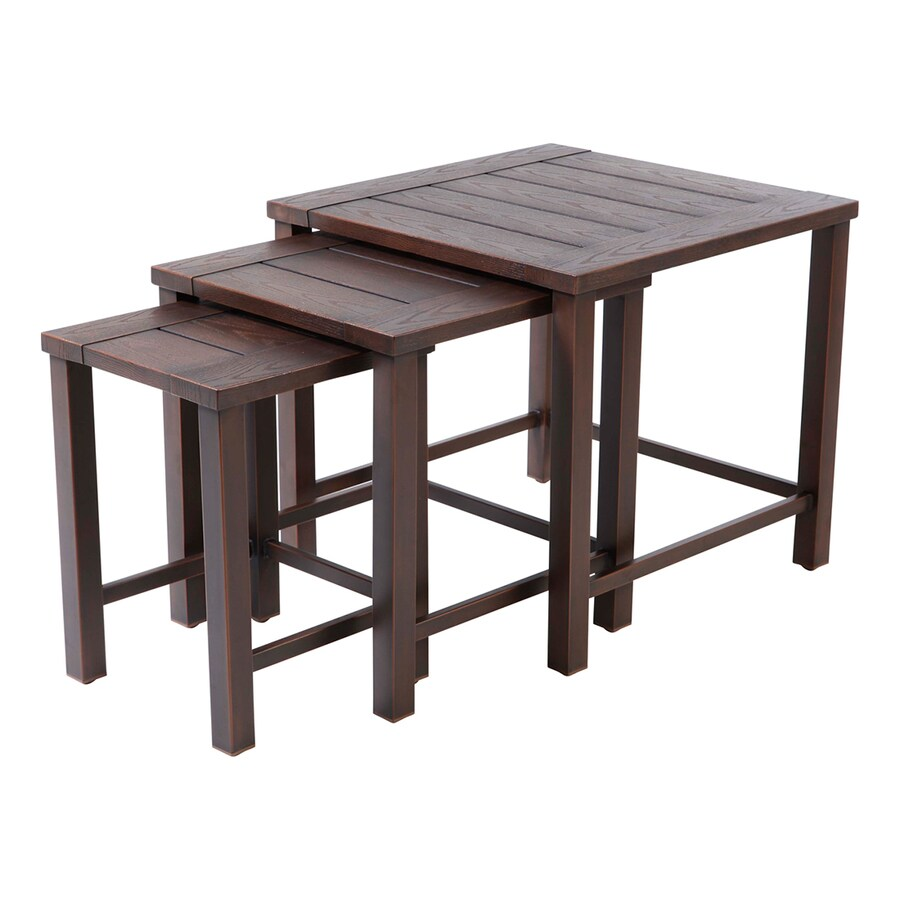allen roth nesting square outdoor coffee table 23 6 in w x 23 6 in l with