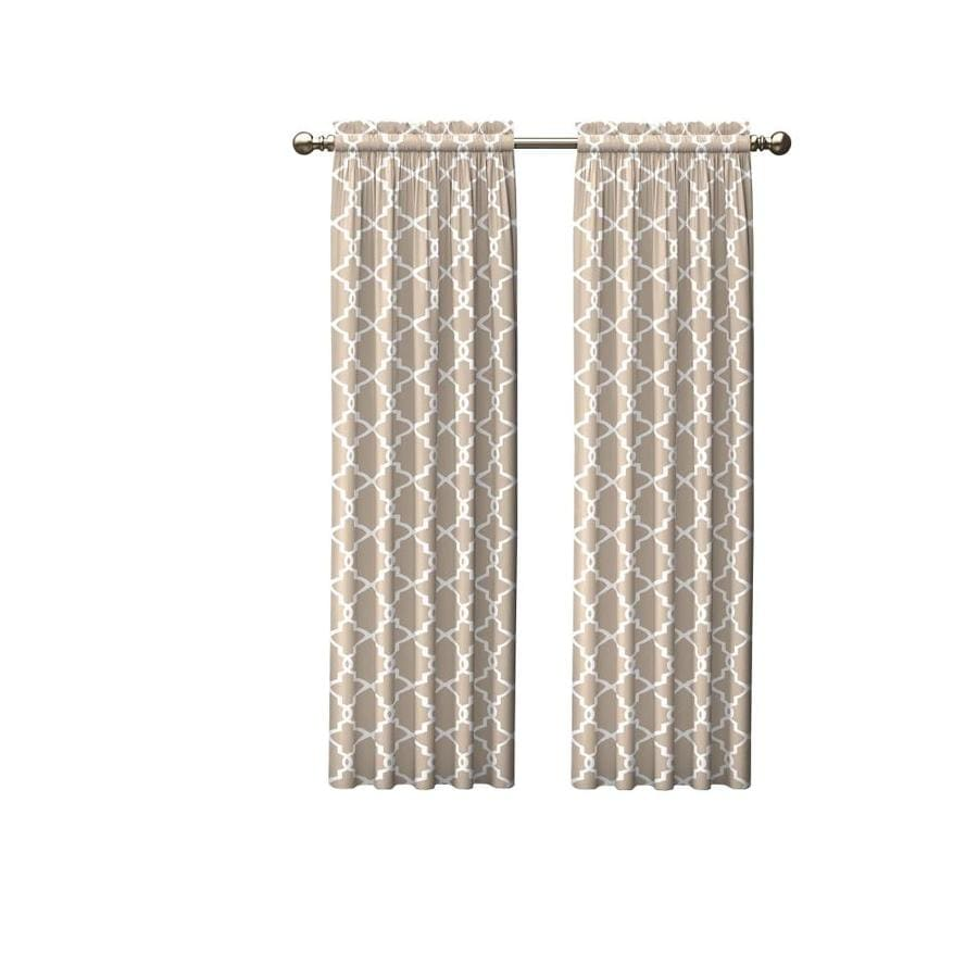 pairs to go 84 in taupe polyester light filtering rod pocket curtain panel pair