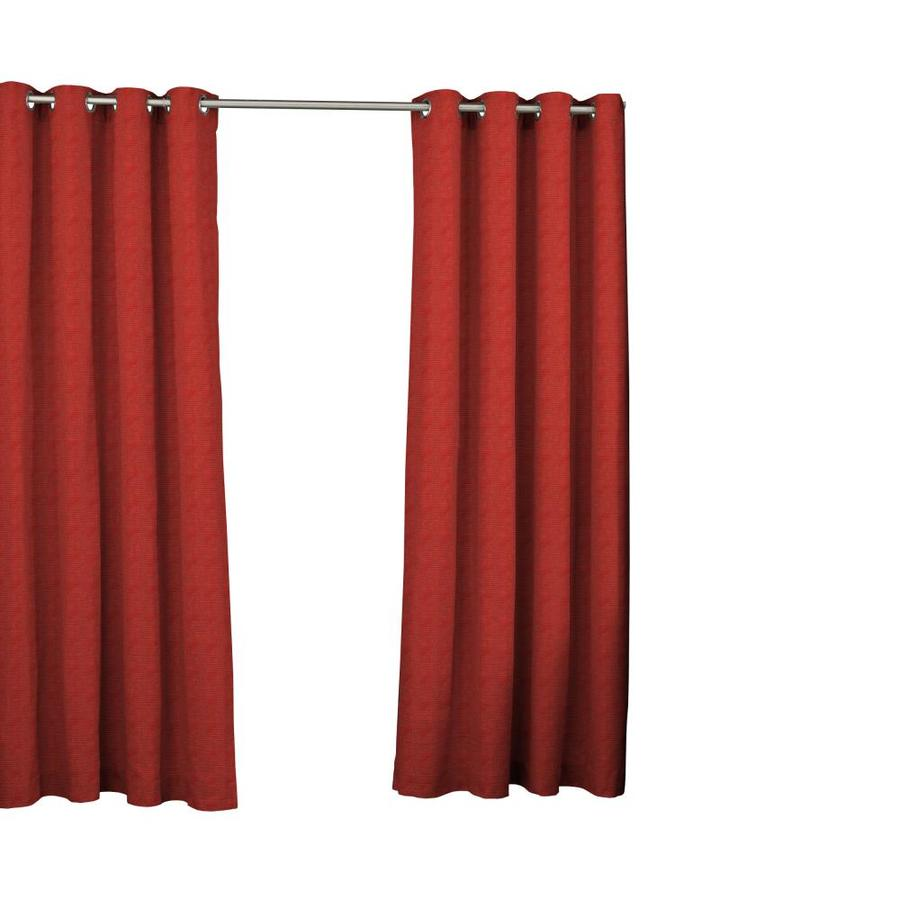 parasol 95 in chili polyester light filtering grommet single curtain panel in the curtains drapes department at lowes com